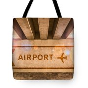 Airport Directions Tote Bag