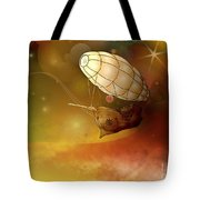 Airship Ethereal Journey Tote Bag by Bedros Awak