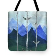 Airy Three Of Wands Tote Bag