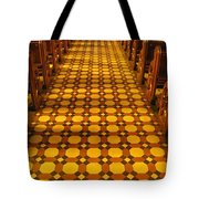 Church Aisle Patterned Floor Tote Bag