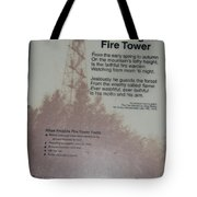 Aiton Heights Fire Tower Tote Bag