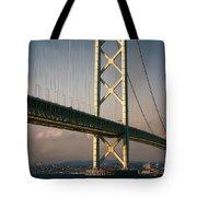Akashi Kaikyo Bridge Sunset Tote Bag