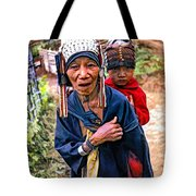 Akha Tribe II Paint Filter Tote Bag