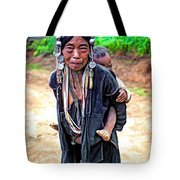 Akha Tribe Paint Filter Tote Bag