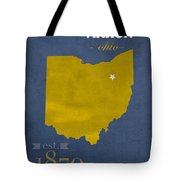 Akron Zips Ohio College Town State Map Poster Series No 007 Tote Bag