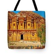Al-dayr Or The Monastery In Petra-jordan  Tote Bag