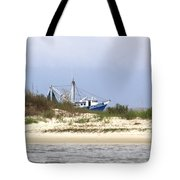 Alabama - Gulf Of Mexico Shrimper - Beautiful Day For Fishing Tote Bag