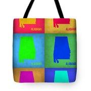 Alabama Pop Art Map 1 Tote Bag
