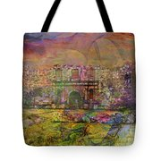Alamo After The Fall - Square Version Tote Bag