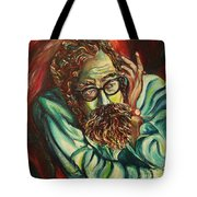 Alan Ginsberg Poet Philosopher Tote Bag
