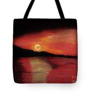 Alaska Sunset Bay Tote Bag
