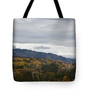 Alaska Highway At Lewes River Bridge  Tote Bag