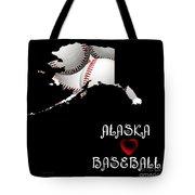 Alaska Loves Baseball Tote Bag