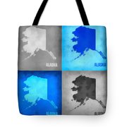 Alaska Map Art Tote Bag