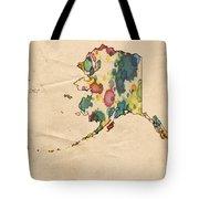 Alaska Map Vintage Watercolor Tote Bag by Florian Rodarte