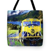 Alaska Railroad Tote Bag