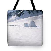 Alaska Range And Glacier With Igloo Tote Bag