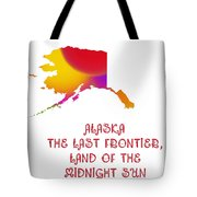 Alaska State Map Collection 2 Tote Bag