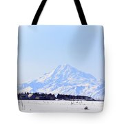 Alaska Winter Wonderland Mount Redoubt Tote Bag