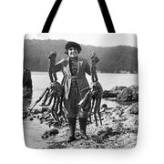 Alaskan Crabs Tote Bag