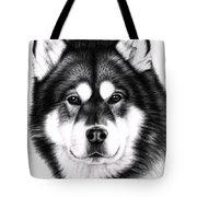 Alaskan Malamute Portrait Tote Bag