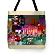 Albany New York Skyline Painting Tote Bag