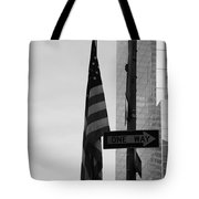 Albany Street In Black And White Tote Bag