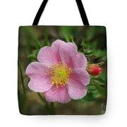 Alberta's Wild Rose Tote Bag