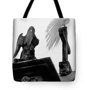 White Peacock.isola Madre-bw Tote Bag