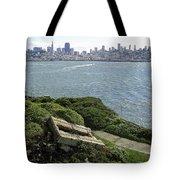 Alcatraz And San Francisco Tote Bag