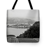 Alcatraz Island From Hyde Street In San Francisco Tote Bag