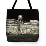 Alcatraz The Rock Sepia 1 Tote Bag