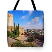 Alcazaba In Granada Tote Bag