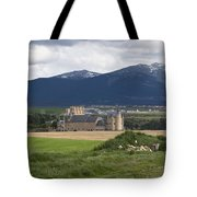 Alcazar Against The Mountains Tote Bag