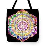 Alchemical Lotus Zodiac Tote Bag
