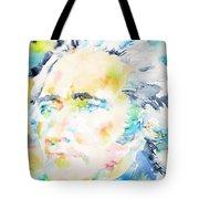 Alexander Hamilton - Watercolor Portrait Tote Bag
