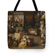Alexander The Great Visiting The Studio Of Apelles Tote Bag
