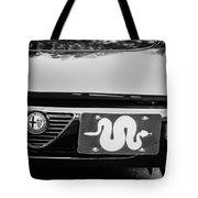 Alfa Romeo Grille Emblem -0287bw Tote Bag