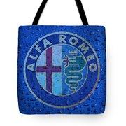 Alfa Romeo Rainy Window Visual Art Tote Bag