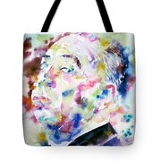Alfred Hitchcock Watercolor Portrait.1 Tote Bag