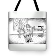 Alfred Talks To Tammy Tote Bag