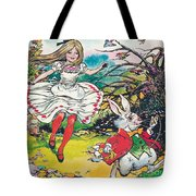 Alice In Wonderland Tote Bag by Jesus Blasco