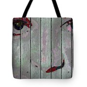 Alice On The Fence Tote Bag