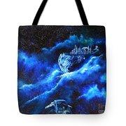 Alien Asteroid Mine Tote Bag