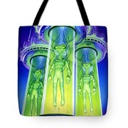 Alien Experiment Tote Bag by Steve Read