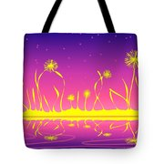 Alien Fire Flowers Tote Bag