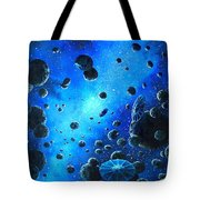 Alien Flying Saucers Tote Bag