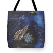 Alien Space Factory Tote Bag
