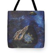 Alien Space Factory Tote Bag