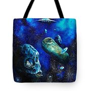 Alien Space Hideout Tote Bag by Murphy Elliott